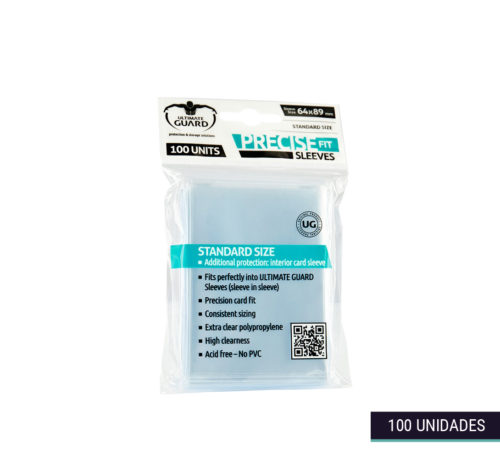 Fundas Precise-Fit Sleeves transparentes 6,4x8,9cm