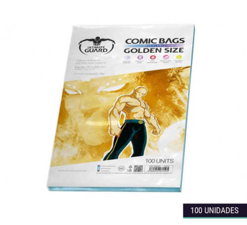 Fundas Comic Bags Resealable Golden 197×268mm